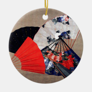 Hokusai著ファン セラミックオーナメント