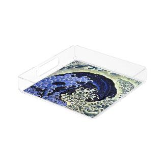 Hokusai著フェミニンな波(詳細) アクリルトレー