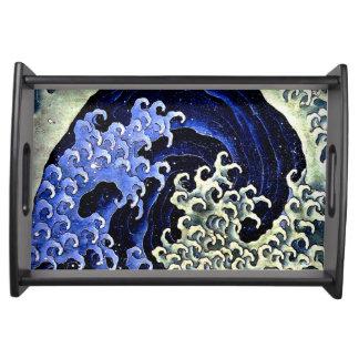 Hokusai著フェミニンな波(詳細) トレー
