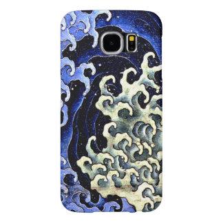 Hokusai著フェミニンな波(詳細) Samsung Galaxy S6 ケース