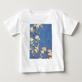 Hokusai著泣くさくらんぼそしてBullfinch ベビーTシャツ