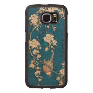 Hokusai著泣くさくらんぼの枝のBullfinch ウッドケース