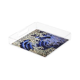 Hokusai著男らしい波(詳細) アクリルトレー