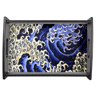 Hokusai著男らしい波(詳細) トレー