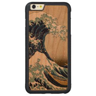 Hokusai著神奈川を離れた元通りにされた素晴らしい波 CarvedチェリーiPhone 6 Plusバンパーケース