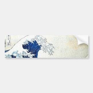"""Hokusai著""""素晴らしい波""""の日本のな絵画 バンパーステッカー"""