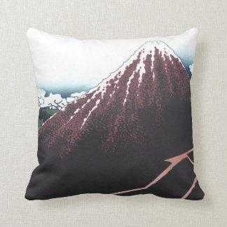 Hokusai、日本語著富士山Ukiyo-e クッション