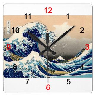 "Hokusai , ""KANAGAWAOKINAMIURA"" 時計"