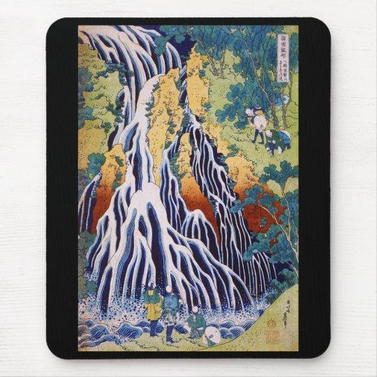 """Hokusai , """" Kirifurino Taki """" マウスパッド"""