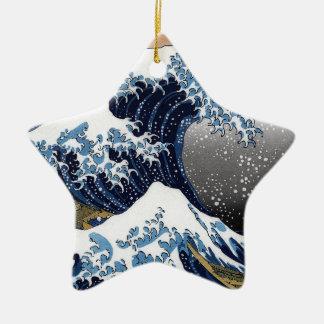 "Hokusai , "" The Great Wave off Kanagawa "" セラミックオーナメント"