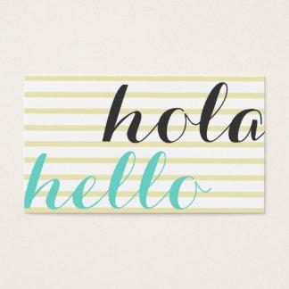 Hola hello, intérprete traductor profesor idiomas 名刺