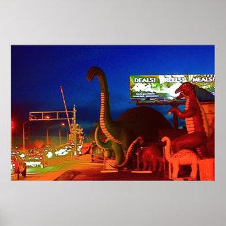 Holbrook恐竜Rte 66 ポスター