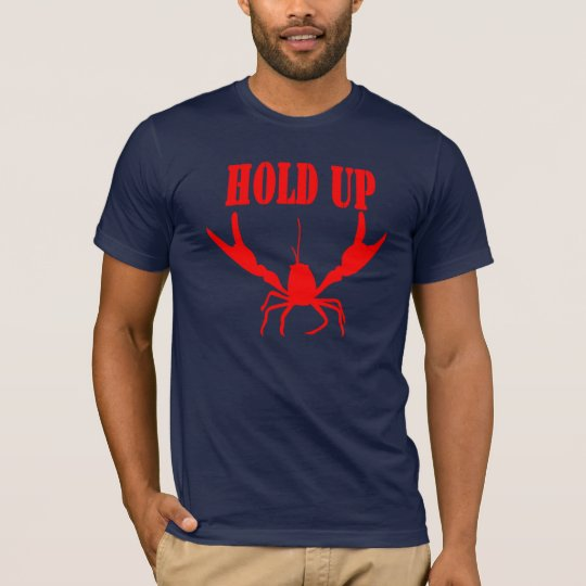 hold up ザリガニー赤 tシャツ