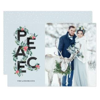 Holiday Berries Peace Photo Card 12.7 X 17.8 インビテーションカード