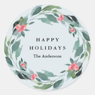 Holiday Berries Sticker ラウンドシール