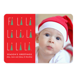 Holiday Carols Photo Card カード