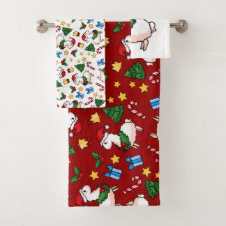 Holiday Llama Madness バスタオルセット