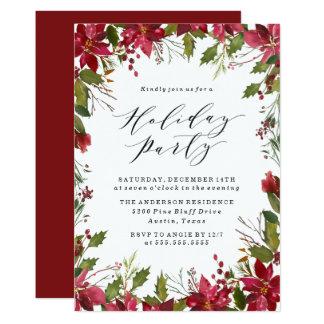 Holiday Poinsettia | Holiday Party Invitation カード