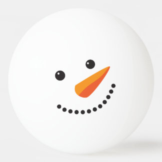 Holidays Frosty Snowman Ping Pong Face 卓球ボール