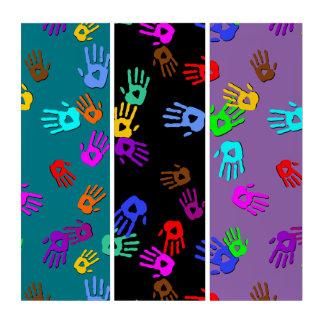 holiES -手によって着色されるパターン1 + あなたのbackgr. トリプティカ