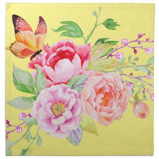 holiES -水彩画の春の花の花束2 ナプキンクロス
