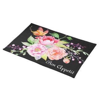 holiES -水彩画の春の花の花束2 ランチョンマット