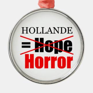 Hollandeのない希望=恐怖- Rのオーナメント メタルオーナメント