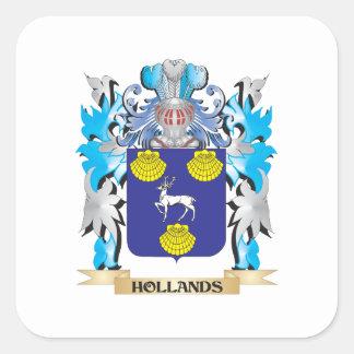 Hollandsの紋章付き外衣-家紋 スクエアシール