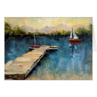 HollyヴァンHart著「赤いヨット」の挨拶状 カード