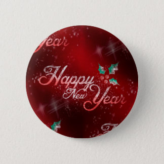 holly happy new year 5.7cm 丸型バッジ
