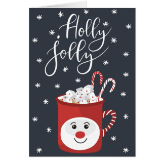 Holly Jolly Christmas Card カード