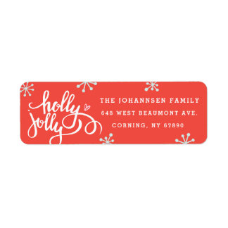Holly Jolly Holiday Return Address Labels 返信用宛名ラベル