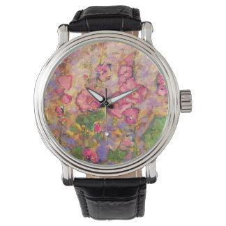 hollyhocksの咲くこと 腕時計