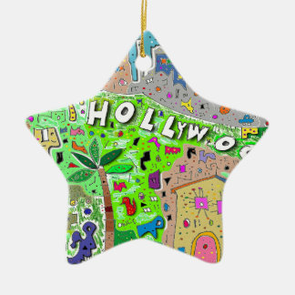 Hollywood Hills市 セラミックオーナメント