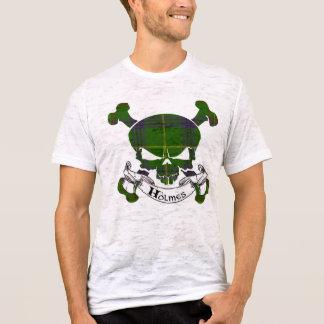 Holmesのタータンチェックのスカル Tシャツ