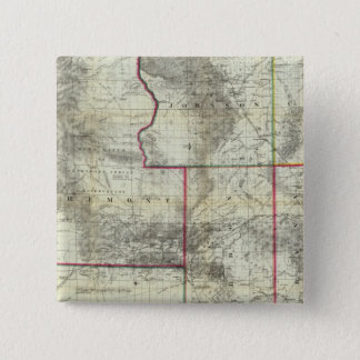 Holtの新しい地図、ワイオミング 缶バッジ