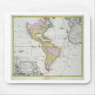 Homannが出版するアメリカ大陸の地図1746年(co マウスパッド
