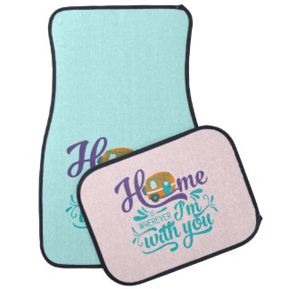 Home is Wherever I'm with you - Cute Retro Camper カーマット