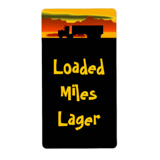 HomebrewのラベルOTRの半トラック運転手はマイルのラガーに荷を積みました ラベル
