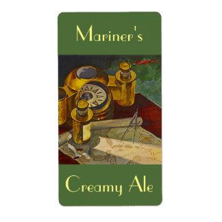 Homebrewingビールは船員の海犬の大尉を分類します 発送ラベル