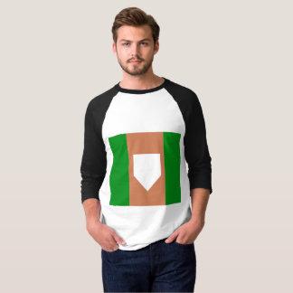 homeplateの人の基本的な3/4枚の袖のRaglanのTシャツ Tシャツ