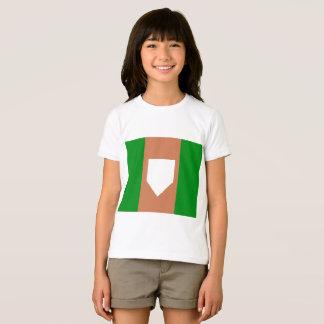 homeplateの女の子のジャージーのTシャツ Tシャツ