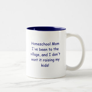 Homeschoolのお母さん ツートーンマグカップ