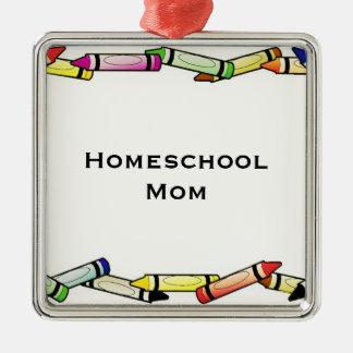 Homeschoolのお母さん メタルオーナメント