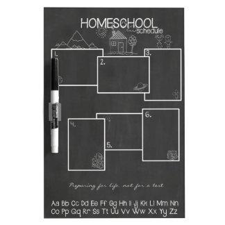 Homeschoolのスケジュール ホワイトボード