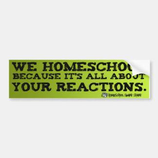 Homeschoolの反作用 バンパーステッカー