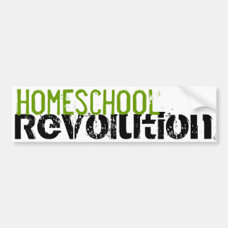 Homeschoolの改革のバンパーステッカーの緑 バンパーステッカー