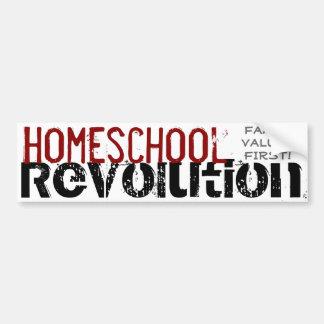 Homeschoolの改革-最初に家庭の大切さ! 赤い バンパーステッカー