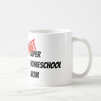Homeschoolの極度のお母さん-白いマグ コーヒーマグカップ