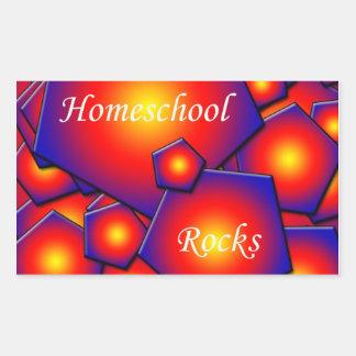 Homeschoolの石 長方形シール